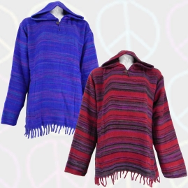Acrylic Wool Hooded Tops