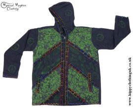 Bares Cotton Fleece Lined Hooded Jacket with Felt Trim