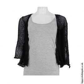 Black Bali Knit Shrug