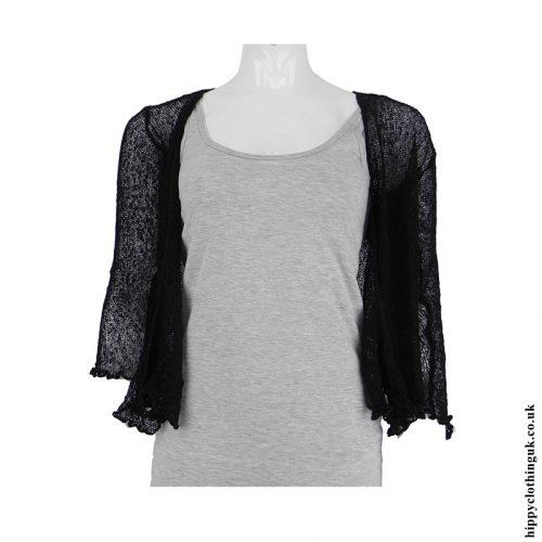 Black Bali Knit Shrug
