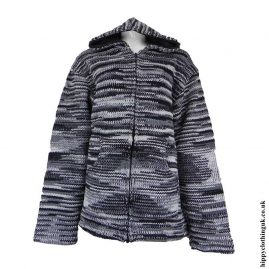 Black-and-Grey-Tie-Dye-Hooded-Wool-Jacket