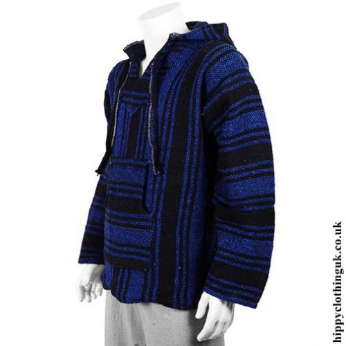 Blue-and-Black-Mexican-Jerga-Baja-Hooded-Hippy-Festival-Top