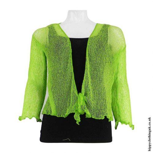Bright-Lime-Hippy-Bali-Knit-Shrug-Cardigan