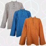 Collarless Grandad Shirts and Hooded Grandad Shirts