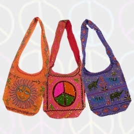 Colourful Hippy Festival Embroidery Shoulder Bags