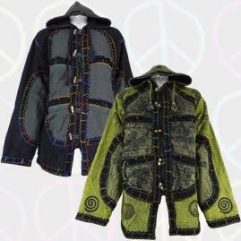 Cotton Fleece Lined Jackets with Felt Trim