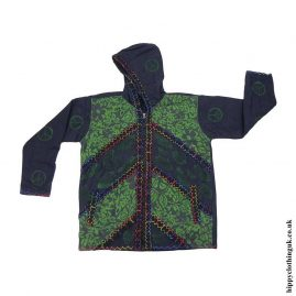 Cotton-green-Jacket-with-Felt-Trim