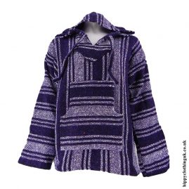 Dark-Purple-and-White-Mexican-Jerga-Baja-Hooded-Top