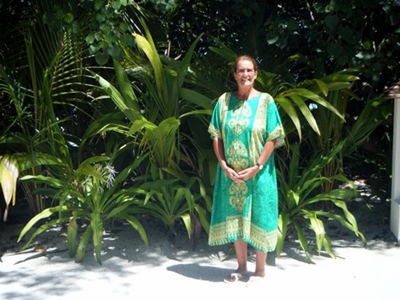 Green Thai Cotton Kaftan