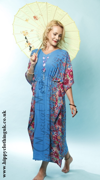 Kaftan Example Blue Flowers 2