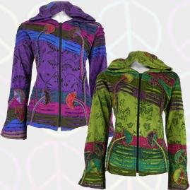 Bares Pixie Hooded Mushroom Jacket