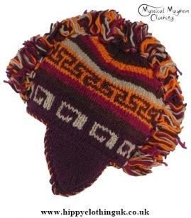 Nepalese Wool Mohawk Hat