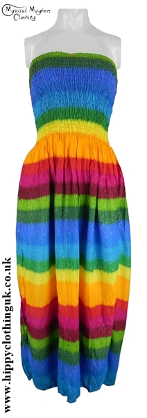 Rainbow Halter Neck Two in One Dress Skirt