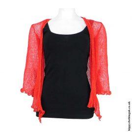 Red-Hippy-Bali-Knit-Shrug-Cardigan