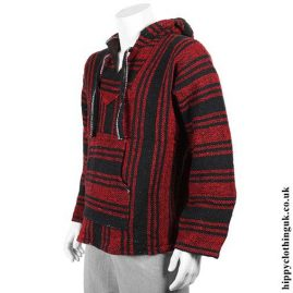 Red-and-Black-Mexican-Jerga-Baja-Hooded-Hippy-Festival-Top