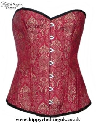 Red and Gold overbust corset