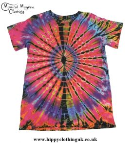 Short Sleeve Tie Dye T-Shirt Hippy Festival Top