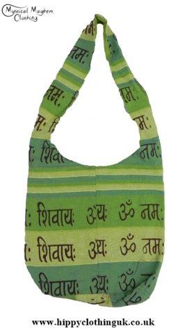 Small Cotton Hippy Festival Shoulder Bag Green