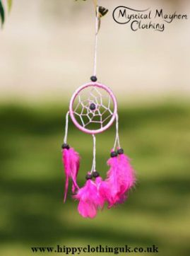 Small Keyring Size Pink Dreamcatcher