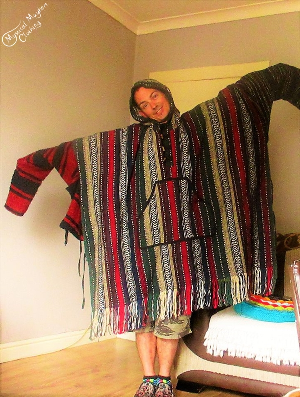 Cotton Poncho, Mexican Jerga and cotton jacket