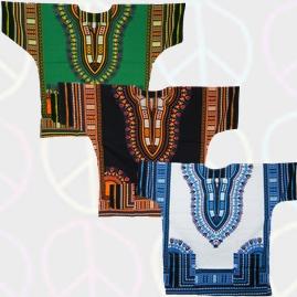 Thai Short Sleeve Dashiki Shirts Top