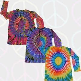 Long Sleeve Tie Dye T-Shirts