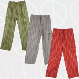 Bares Striped Cotton Trousers