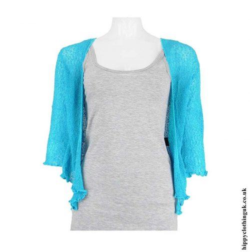 Turquoise-Bali-Knit-Shrug
