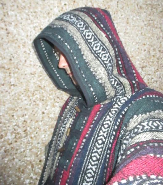 thick weave cotton poncho