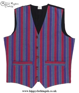 Striped Multicoloured Nepalese Cotton Waistcoat
