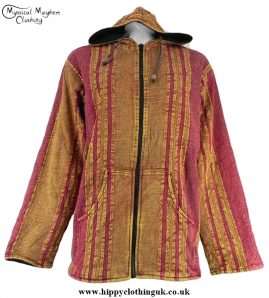 Acid Wash Cotton Hooded Fleece Lined Jacket