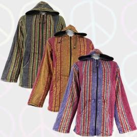 Acid Wash Cotton Jackets with Fleece Lining