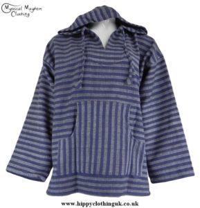 Blue Striped Cotton Smock