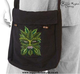 Green man shoulder bag