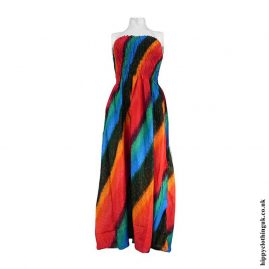 Multicoloured-Two-In-One-Dress