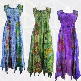 Pointed Pixie Tie Dye Dress