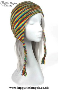 Multicoloured Spacedye Cotton Over the ear hat