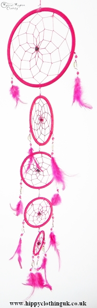 Pink Cotton Dream Catcher