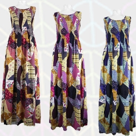 Printed Patchwork Long Maxi Dresses