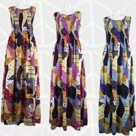 Printed Patchwork Long Maxi Dresses