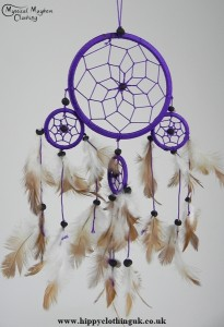 Purple Cotton Dream Catcher