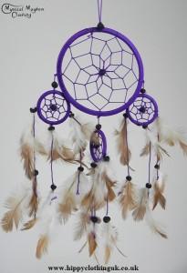 Purple Cotton Dream Catcher