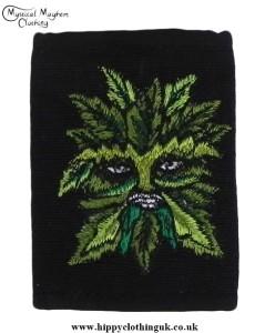 Green man cotton wallet