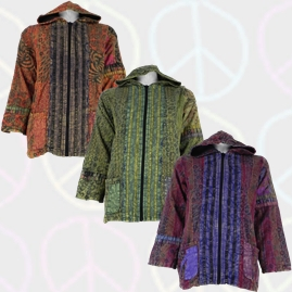 Gringo Cotton Peace Patchwork Jacket with Lining