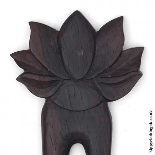 Lotus-Flower-Hair-Fork-Closeup