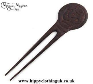 Om-Sign-wooden-hippy-Hair-Fork---Edited