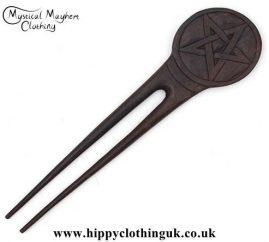 Pentagram-wooden-hippy-Hair-Fork---Edited