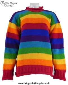 Striped Nepalese Wool Jumper