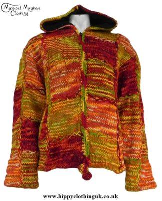 Nepalese Pixie Hooded Wool Jacket