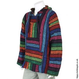 New-Multicoloured-Mexican-Jerga-Baja-Hooded-Hippy-Festival-Top